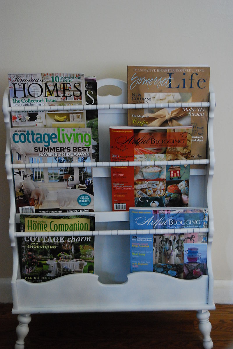 Magazine rack after