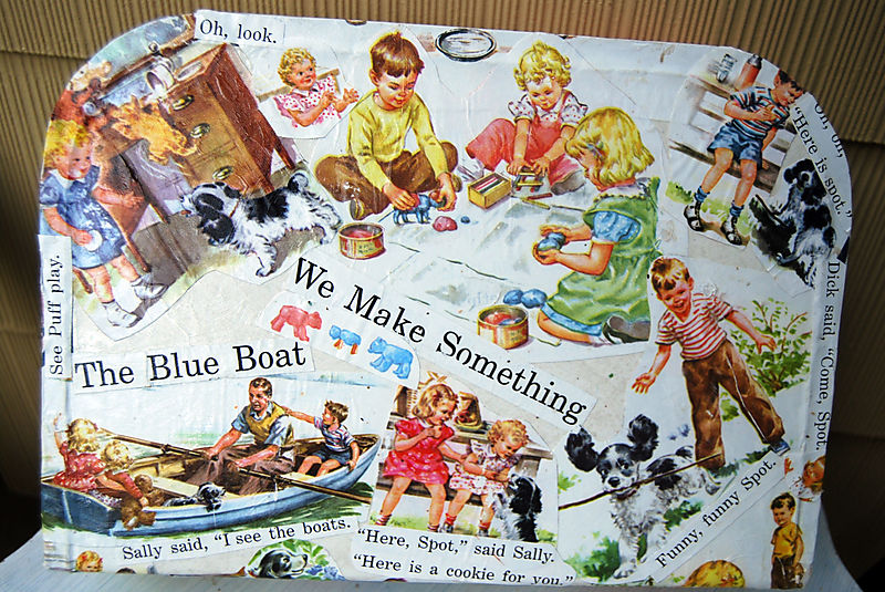 Dick and jane suitcase 1