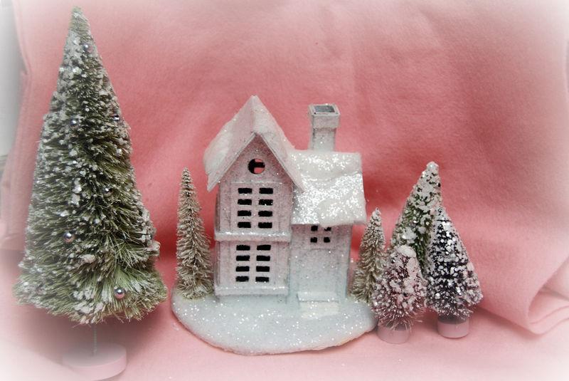 White glitter house