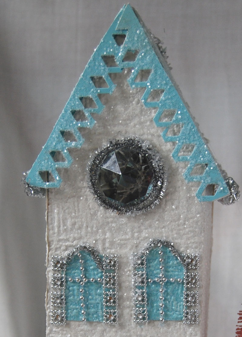 Glitter house close up