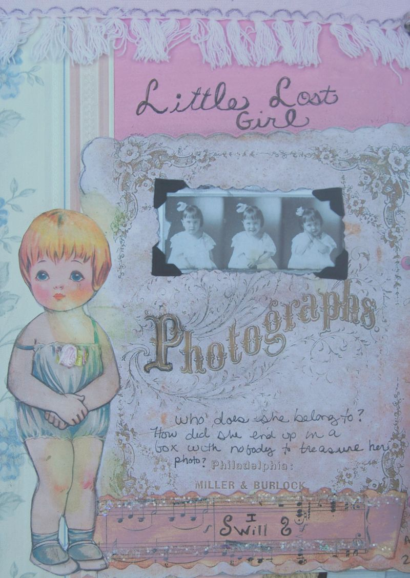 Journal page little lost girl